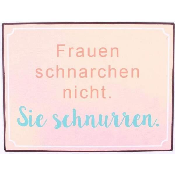 em6724-schild-frauen-schnarcheln-nicht-Sie-schnurren